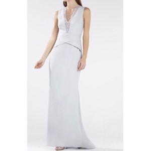 BCBG MAXAZRIA Alyza Deep V Lace Insert Dress